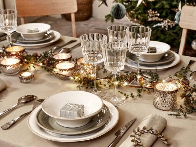 Une table de fêtes chic et élégante