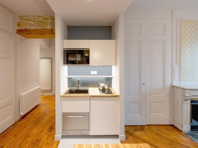 Une nouvelle cuisine comme élément central