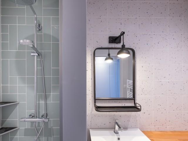 Une salle de bains modernisée