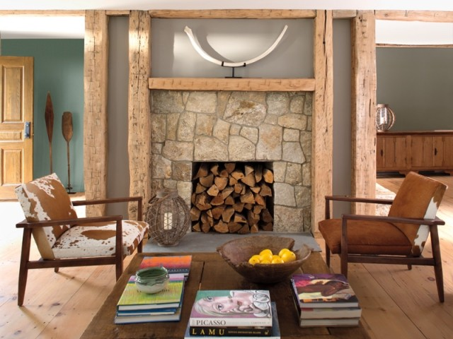 Investir le foyer d'une ancienne cheminée