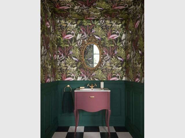 Une ambiance tropicale dans la salle de bains