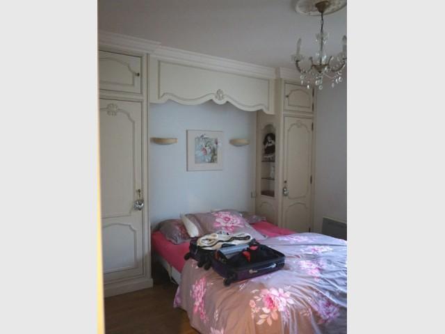 Avant : une petite chambre démodée