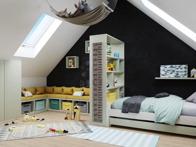 Une chambre d'enfant sur-mesure dans les combles