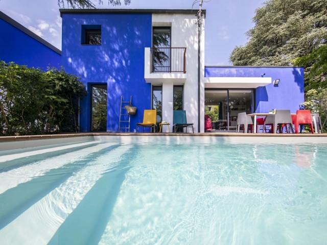 Une piscine familiale