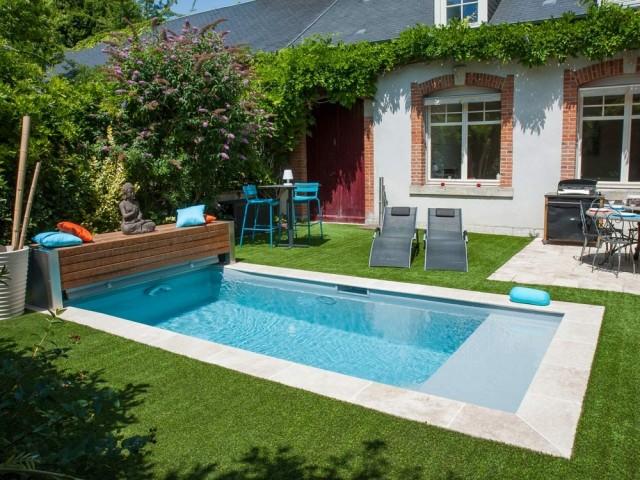 Une petite piscine pensée pour nager