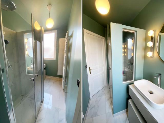 Après : une petite salle de bains parfaitement optimisée