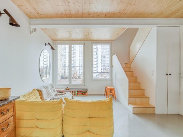Un salon ouvert sur la terrasse