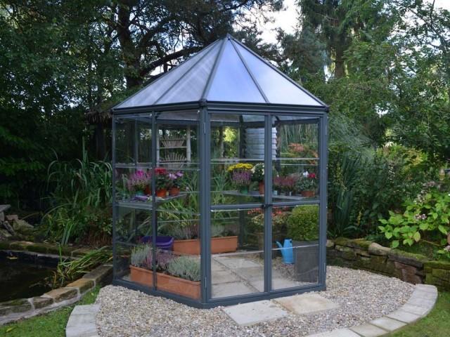 Serre hexagonale en polycarbonate Oasis, 899 €, Gamm Vert