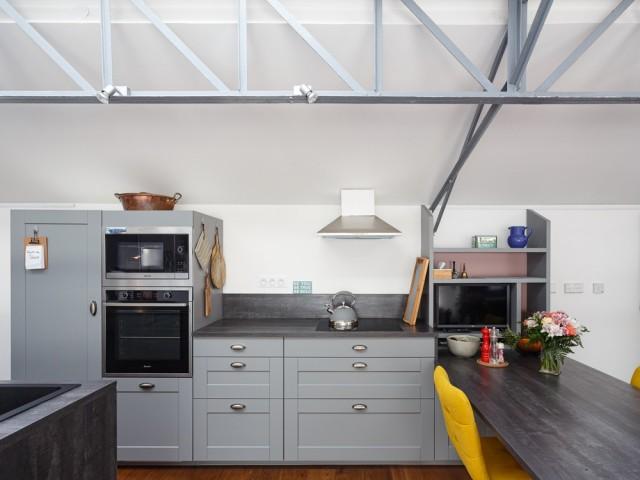 Une cuisine qui joue avec l'espace