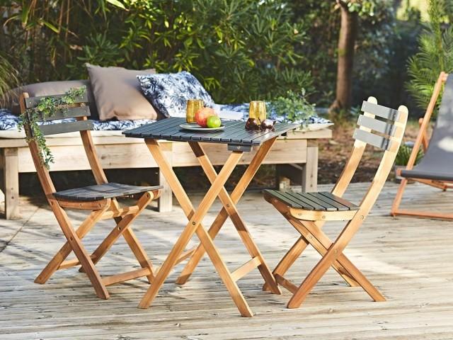 Ensemble table de jardin et chaises pliantes Hiro, La Fabrique de style, prix : 74,90 €