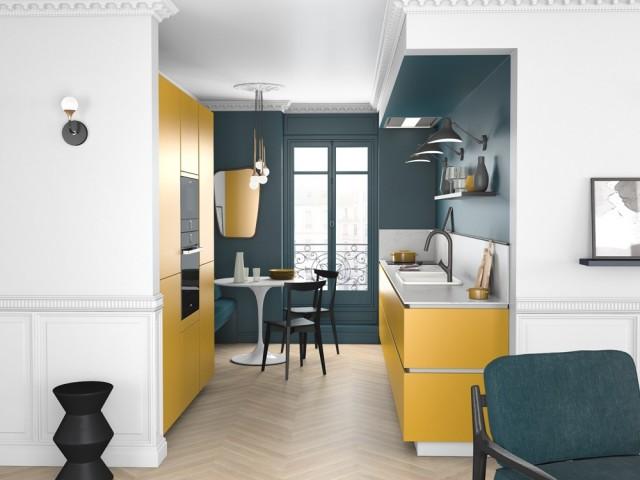 Du jaune pour ensoleiller la cuisine