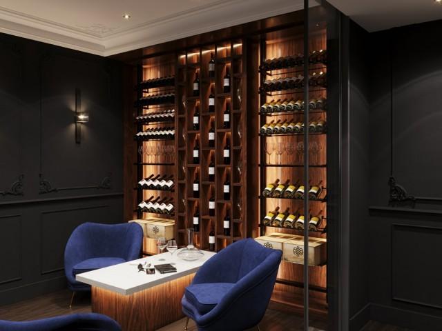 Une élégante cave à vin façon vinothèque