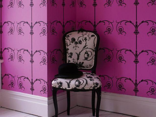 10 nouveaux papiers peints - Tapisserie capitonnee rose ...