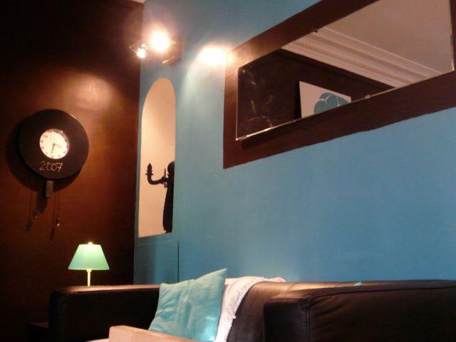 Salle De Bain Bleu Et Chocolat