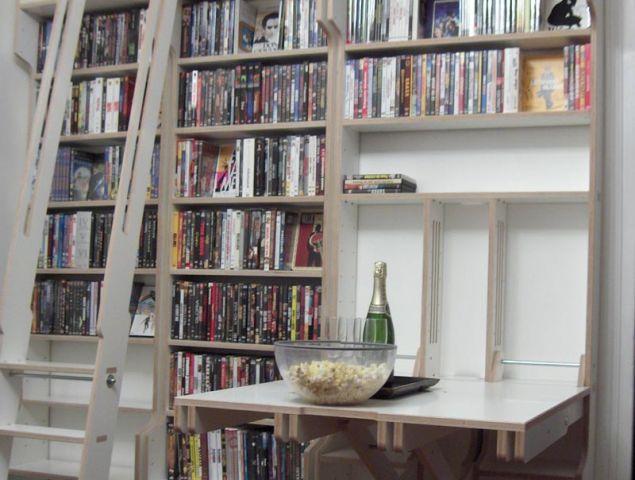 r alisation d 39 une biblioth que sur mesure. Black Bedroom Furniture Sets. Home Design Ideas