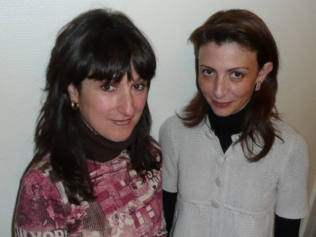 Muriel Carcagno (à gauche) et Stéphanie Leycuras.