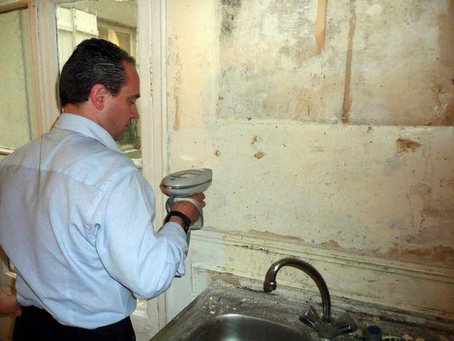 Mesure de la quantité de plomb dans un mur
