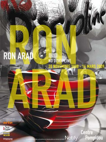 affiche exposition Ron arad