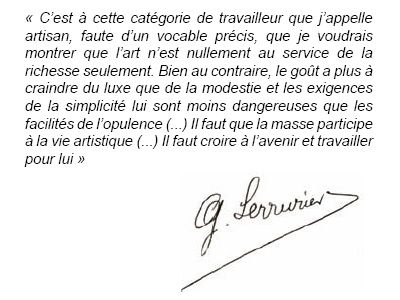 Citation de Serrurier Bovy