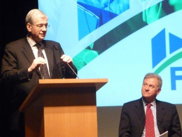 Didier Ridoret (FFB) et René Pallaincourt (Fnaim), le 13 janvier 2009.
