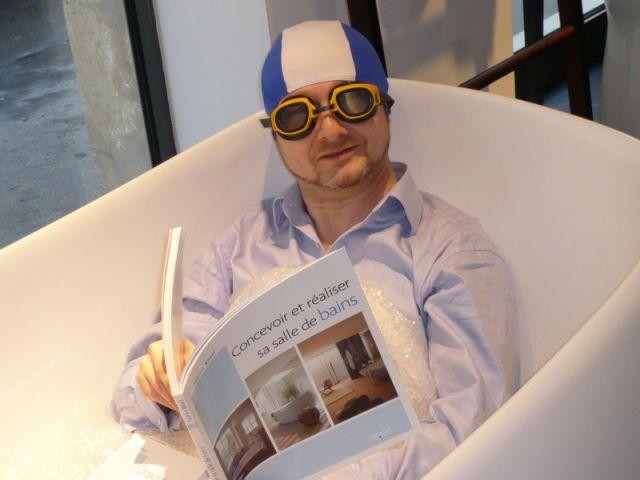 Fabrice Knoll, le 5 février dernier, au show-room B'bath pour la présentation officielle de son ouvrage.