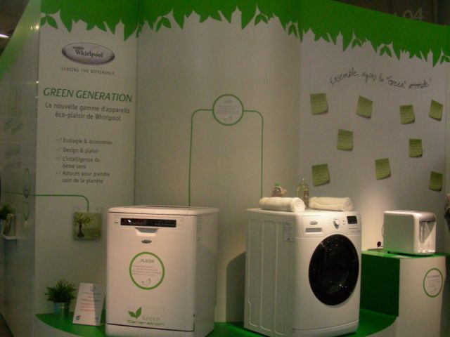 stand whirpool salon Planète durable