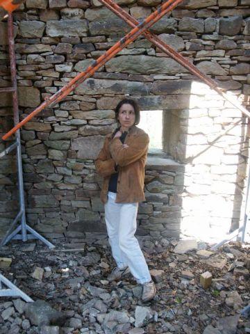 Christine Brusson sur l'un de ses chantiers.