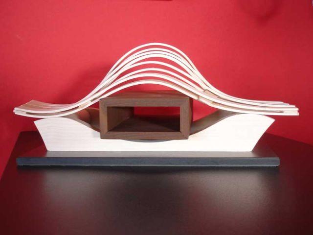 Le trophée Habitat et bois en Lorraine a été créé par Gilles Somme (Dieuze) et réalisé par les Compagnons du devoir.