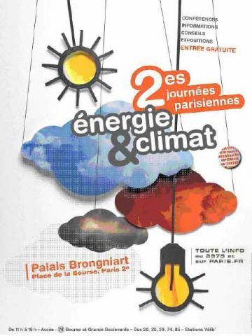 affiche deuxième journées parisiennes climat