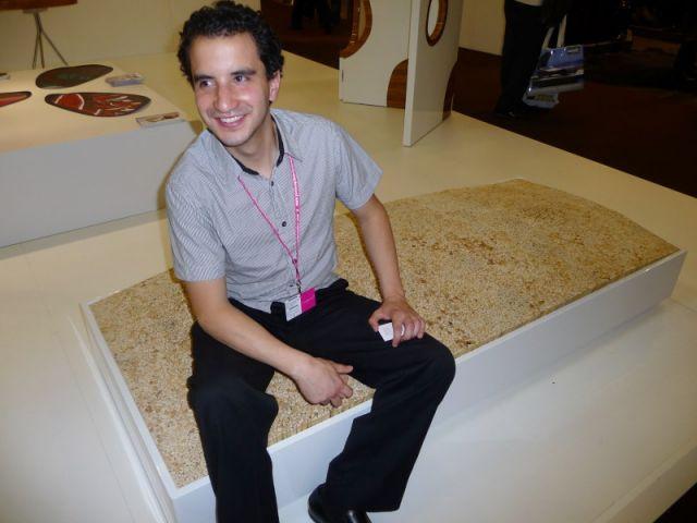 Juan Fernando Hidalgo, lors du salon Maison & Objet de Septembre 2009.