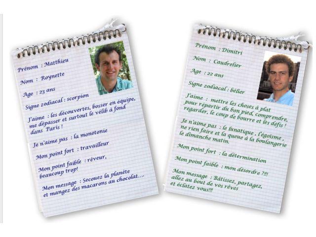 A l'issue de leurs études, Mathieu Roynette et Dimitri Caudrelier sont devenus des globe-trotters du développement durable.