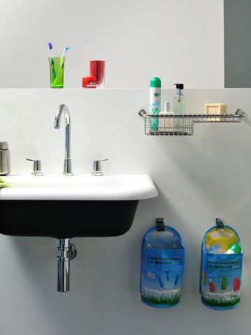 poubelle tri salle de bains