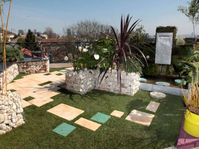 jardins urbains quand le min ral rencontre le v g tal. Black Bedroom Furniture Sets. Home Design Ideas