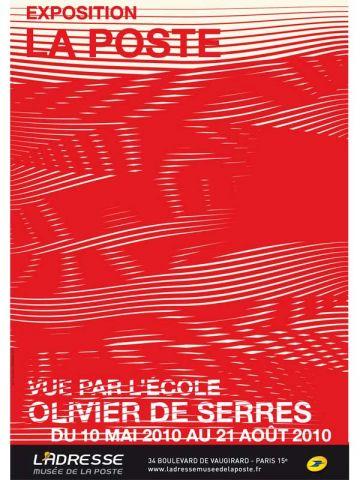 affiche musee de la poste Olivier de Serres