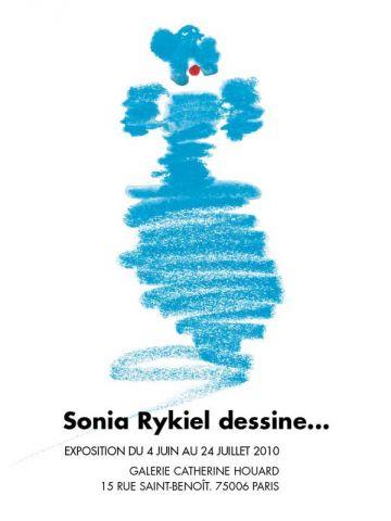 affiche exposition dessins Sonia Rykiel