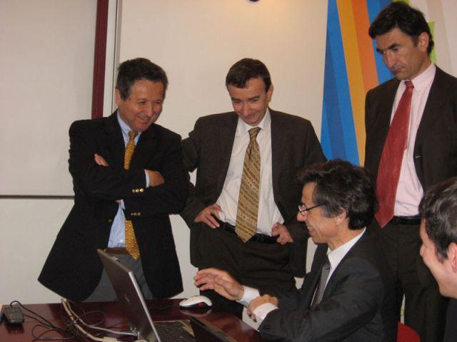Démonstration du portail Géofoncier au siège de l'Ordre des Géomètres-experts, en compagnie de ses partenaires de la DGFIP et de l'IGN.