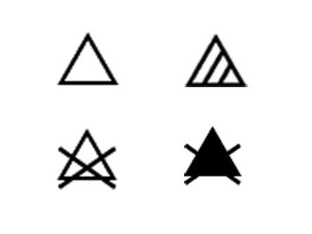 Etiquette d'entretien du linge, les symboles de blanchissement