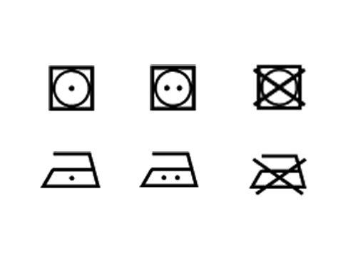 Etiquette d'entretien du linge, les symboles de séchage et repassage