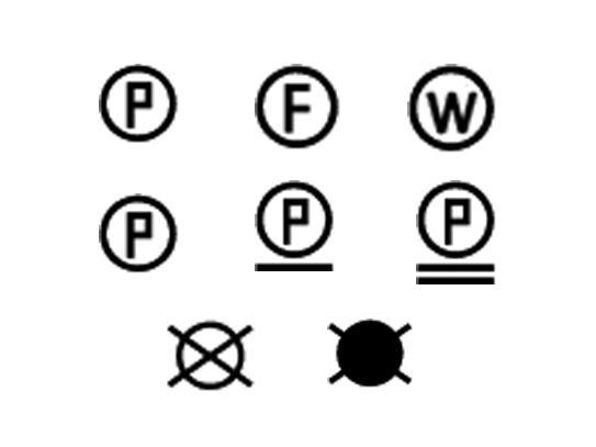 Etiquette d'entretien du linge, les symboles de nettoyage en teinturerie