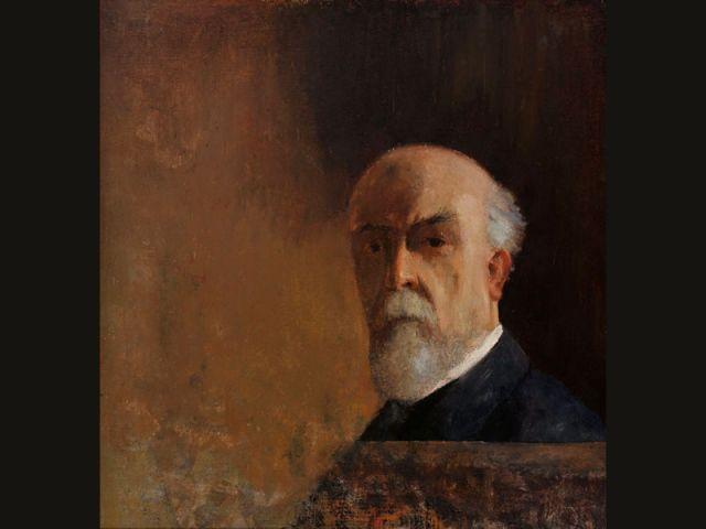<i>Autoportrait</i>, vers 1910. Huile sur carton, 56x52cm. Collection particulière.