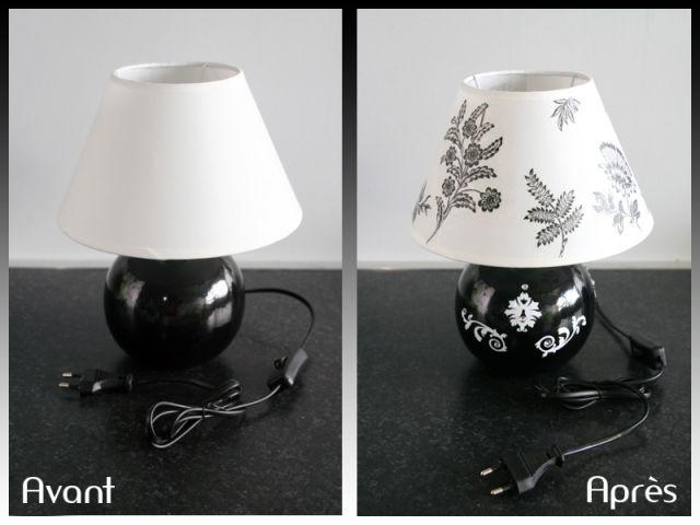 Relookée À Une Lampe Des Grâce Collages ukXTPOZi