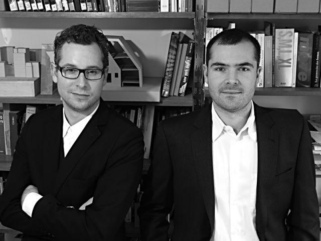 Pierre Alexandre Devernois et Florian Hertweck, architectes fondateurs de l'agence Hertweck Devernois Architectes Urbanistes.