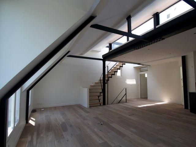 4 appartements transform s en duplex avec terrasse. Black Bedroom Furniture Sets. Home Design Ideas
