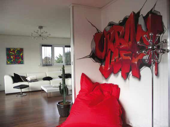 La fresque d\'un artiste sur mon mur