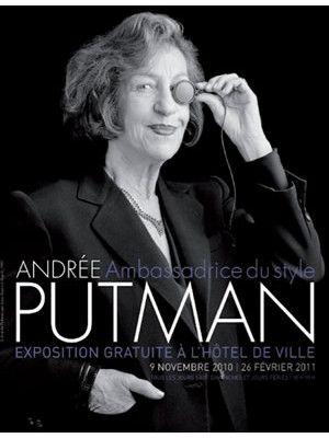 Andrée Putman, affiche de l'exposition à Paris