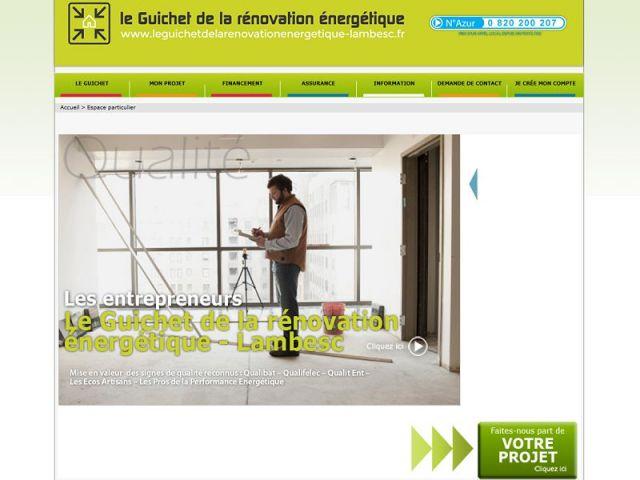 Guichet rénovation énergétique