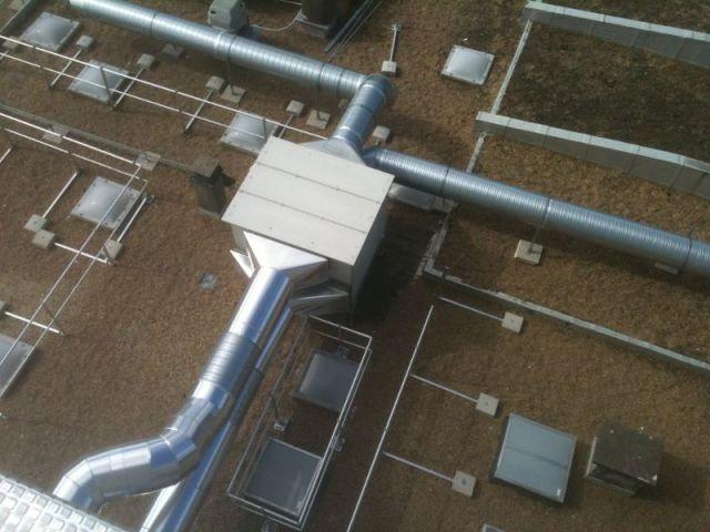 Centrale traitement d'air dans un collège