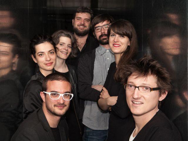 De gauche à droite : François Mangeol, Pauline Deltour, Véronique Maire, FX Balléry, le duo Pool et Germain Bourré.
