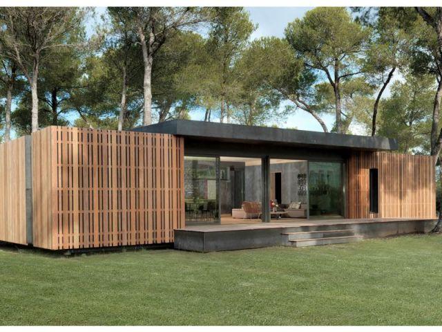 Pop up une maison passive mont e en 4 jours - Maison passive en bois ...