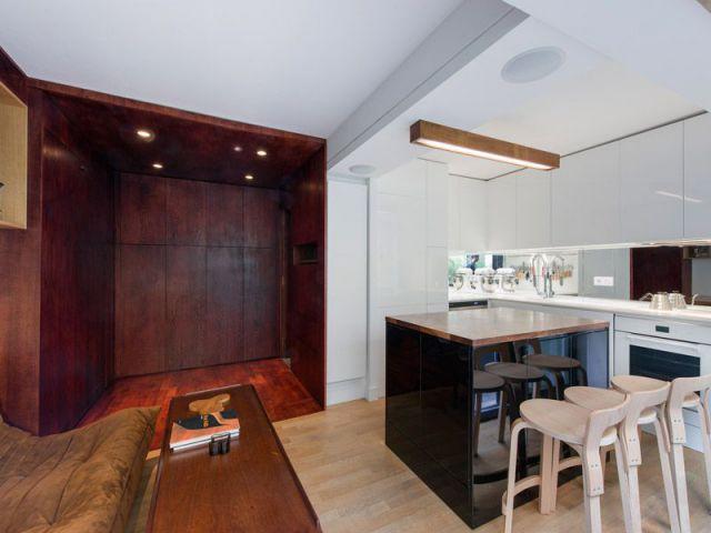 Aménager 1 petit espace : 1 studio fait rimer encastrable et escamotable